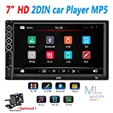 Leoie 7inch 2 Din Car Radio MP5 Stereo Receiver Auto Radio Car Stereo Audio Radio Mirror Link Support Rear Camera with Camera