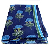 #10: BANARSI DAS Floral Print Jaipuri Fabric Handmade Sanganeri Cotton Fabric Indian Hand Block Print Fabric 2.5 Meter