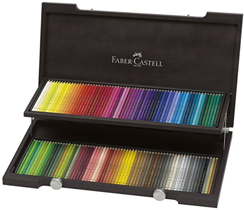 Compare Prices for Faber-Castell 120 Polychromos Artist Colour Pencils with Wenge Stained Wooden Case and A4 Sketch Pad Reviews