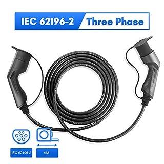 Morec EV-Ladekabel 32A Dreiphase 22KW für EV Charger Ladestation typ 2 zu typ 2, IEC 62196-2 5M