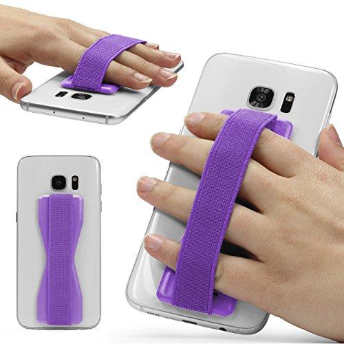 URCOVER Impugnatura Smartphone Universale Selfie Strap   Sostegno Smartphone Tablet in Lilla   Supporto Telefono Adesivo Accessori