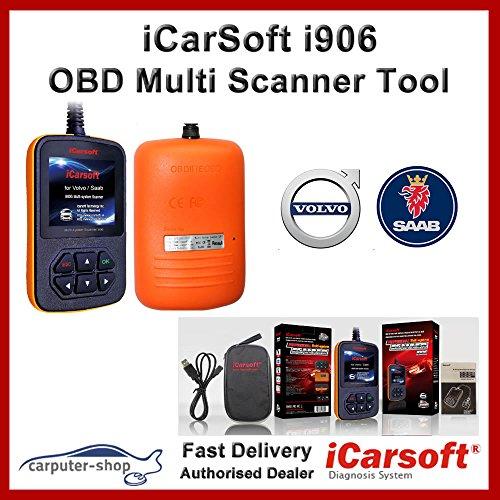 Scanner Volvo (iCarsoft i906Multi-Systeme Scanner für Volvo/Saab OBD Diagnose)