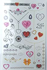KABEER ART 75 Assorted Waterproof Temporary Body Tattoos Stickers for Children :- Theme - JEWELRY