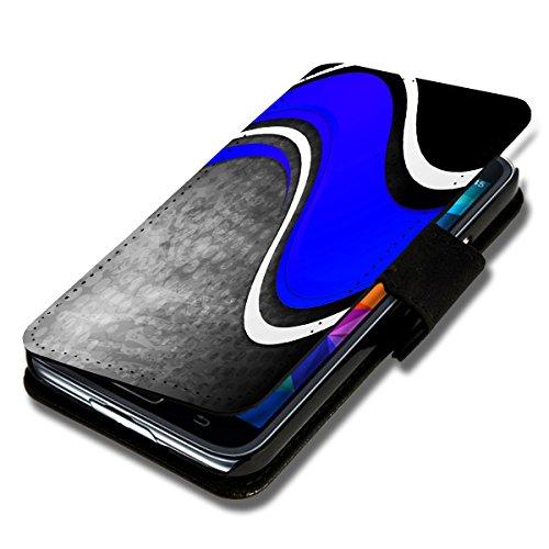 Book Style Flip Handy Tasche Case Schutz Hülle Schale Motiv Etui für Wiko Stairway - Flip 1A46 Design1