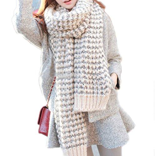 Pixnor Señora larga Mohair lana suave cálida bufanda
