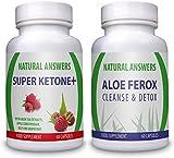 Super Ketone Plus (60 Capsules) & Aloe Ferox Cleanse & Detox (60 Capsules)(Bundle Deal) By Natural Answers