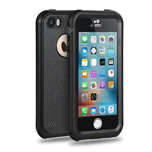 Merit Funda Impermeable para iPhone SE , Carcasa contra Agua,Golpe y Polvo ,Sellada Plena,Funda de Protección,Protector para iPhone SE/5/5s