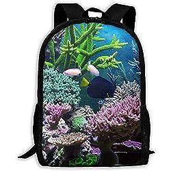 U-Boot Korallendruck Erwachsenen Rucksack Laptop Schultern Tasche