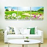 WENJUN Wandbilder 3 Panels Modern Gestreckt Und Gerahmt Leinwandbilder Seascape Paintings Reproduktion Für Das Wohnzimmer Zu Hause, 6 Farben, 4 Größen (Farbe : C, größe : 80 * 80cm)
