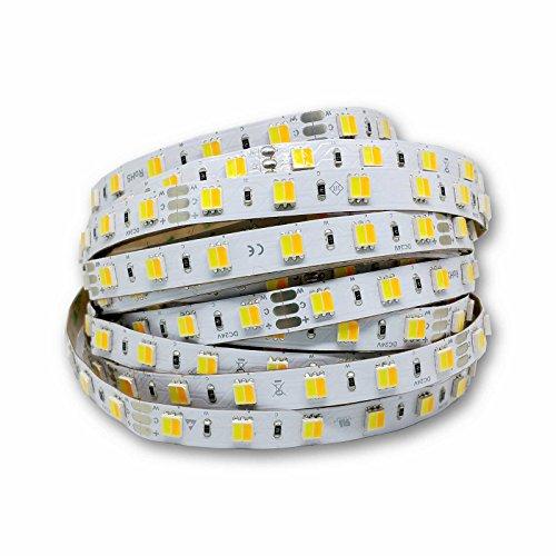 alupona® CCT LED Streifen 24V dualweiß 10.8W/m warmweiß + kaltweiß Band Strip Stripe Farbe 2 Meter (200cm)