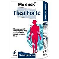 Marinox Flexi Forte | Nahrungsergänzungsmittel mit Ingwer, Hagebuttenextrakte, Mangan Glucosamin, Chondroitin und Collagen | 60 Kapseln