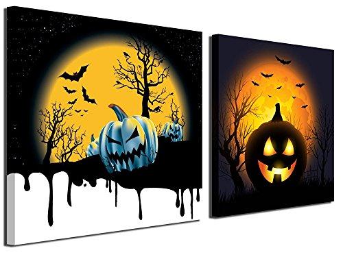 Gardenie Kunst-Happy Halloween Wall Art Prints auf Leinwand Gemälde Abstrakt Wand Kunstwerke Bilder ¡ 12 x 12 inch Halloween 1
