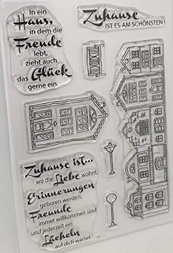Haus mit deutschen Wörtern transparent klarer Silikonstempel/Siegel für DIY Scrapbooking/Fotoalbum dekorativer klarer Stempel M1167