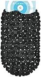 Circul Badewannenmatte 68 x 35 cm schwarz Steinoptik modern