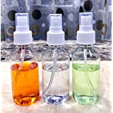 100 ml Empty Plastic Transparent Refillable Fine Mist Spray Bottle, 3 Pc, White
