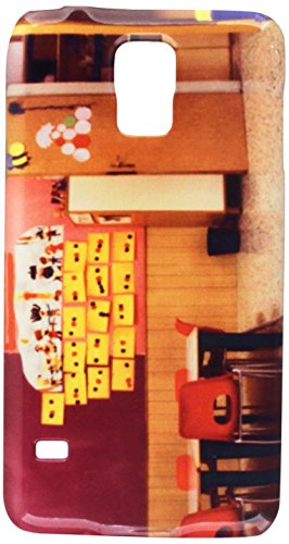 (my-handy-design Klassenzimmer mit Rot Stühle und Tisch mit Zeichnungen von Kinder Handy Tasche Cover Case Samsung S5)