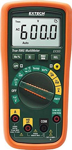 Extech Multimeter (Extech EX355 Professionelles Multimeter mit TRMS und NCV-Detektor und Thermometer)