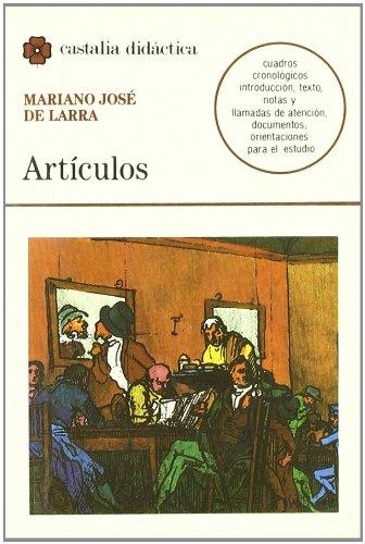 Artículos                                                                       . (CASTALIA DIDACTICA. C.D.) por Juan Bautista Bordajandi