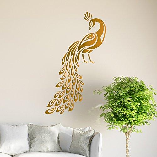 pfau-wandtattoo-vogel-aufkleber-kunst-wohnzimmer-vinyl-wandbild-grafiken-hall-decor
