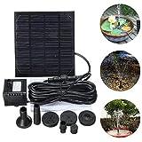 HUANGYABO 7W Tauch Schwimmende Solar Power Brunnen Panel Kit Garten Wasserpumpe Wasser