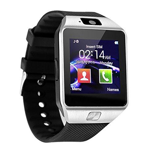 Preisvergleich Produktbild Smartwatch,  KXCD Bluetooth Smart Watch Armbanduhr Handy-Uhr Smartwatch Android Uhr mit Kamera Schrittzähler Unterstützungs TF / SIM Karte Gebogener Bildschirm für Android Samsung Huawei HTC LG Sony