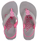 Barbie Girl's Grey/Pink Flip-Flops-7 Kids UK/India (24 EU) (BBPGFF0129)