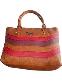 G Bags Women Stylish Handbag Fully Laminated (Modern Design), Multi-Coloured Gb1300