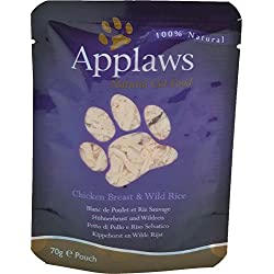 Applaws Katze Beutel Hühnchenbrust & Wildreis, 12er Pack (12 x 70 g)