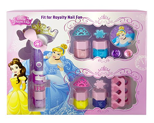 Disney Princesas Fit for Royalty Nail Fan, pack de maquillaje (Markwins 9604110)
