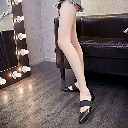 Damen Riemen Event Elastischer pumps COOLCEPT Schwarz Mode Sandalen Flach d1xqInSwC