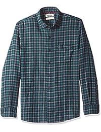 Goodthreads Camisa Cepillada de Manga Larga Estampado Tartán Standard Fit Hombre