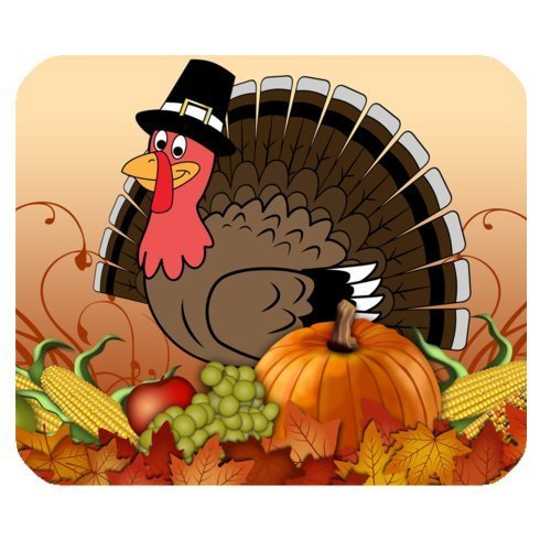 Gaming MousePad - Happy Thanksgiving day Harvest Festival Rectangle Mouse Pad Size(9.84