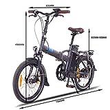 "NCM London (+) E-Bike, E-Faltrad, 250W, 36V 15Ah/19Ah • 540Wh/684Wh Akku, 20"" Zoll (15Ah Anthrazit) - 3"