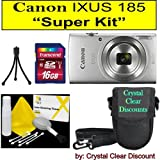 "Canon Ixus 185 -""Super Kit"" (argento)"