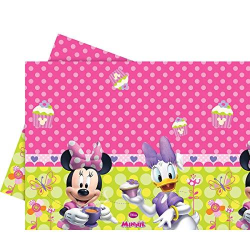 BIGIEMME S.R.L. Minnie Maus Tischdecke mit Minnie Maus und Daisy Duck Disney-Lizenzartikel pink-grün 180x120cm Einheitsgröße