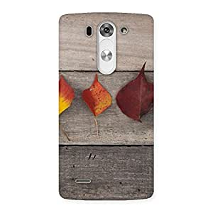 Premium Leaves on Wood Back Case Cover for LG G3 Beat
