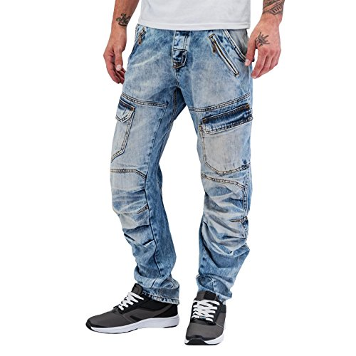 Dangerous DNGRS Homme Jeans / Antifit Anti Fit Bleu