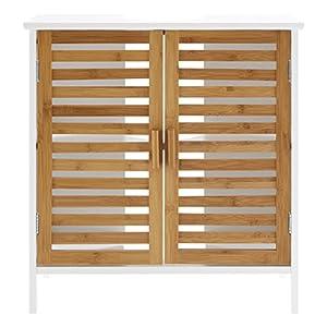 Premier Housewares – Armario de bambú para Pila de baño, Color Blanco