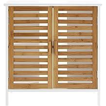 Amazon.fr : meuble sous lavabo bambou