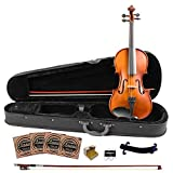 Rise by Sawtooth 3/4 Size Student's Violin with Carved Solid Spruce Top