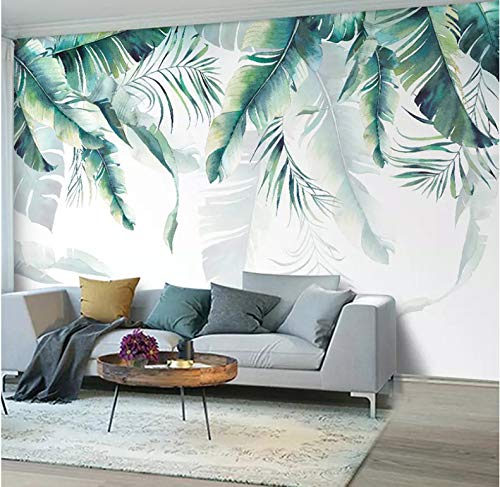 Wallpaperphoto Mural Wallpaper Retro Tropical Rain Forest Palm Banana Leaves Wall Painting Bedroom Living1 ㎡ -