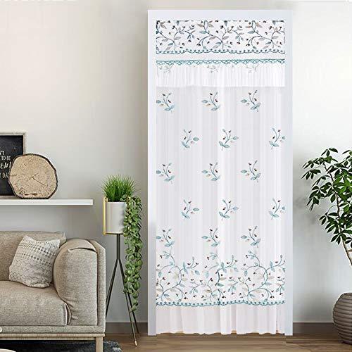 Doppelte Anti-moskito Vorhang,vier Jahreszeiten Haushalt Wand Vorhang Punsch-frei Vorhang Bad Halben Vorhang-blau 90x150cm(35x59inch)