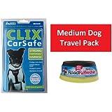 Medium Dog Travel Pack - Clix Car Safe Harness Medium   Road Refresher Small