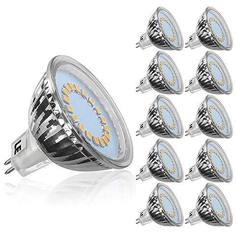 LE 10er GU5.3 MR16 LED Lampen 3.5W 12V, ersetzt 35W Halogenlampen, 280lm Warmweiß 3000 Kelvin 120 ° Abstrahlwinkel LED Birnen LED Leuchtmittel