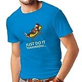 lepni.me N4285 Männer T-Shirt Faulenzen (Small Blau Mehrfarben)