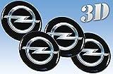 Adesivi per ruote Opel imitazione di tutti i formati Centrale Logo Cap Badge Trimmer 3d (56.50mm.)