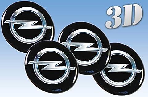 autocollants sur pneus Opel imitation tout Centre taille Cap Logo Badge Enjoliveurs 3d (60mm.)