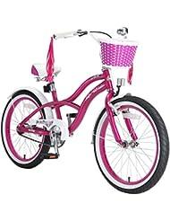 BIKESTAR® Original Premium Design Kinderfahrrad für coole Kids ab 6 Jahren ★ 20er Deluxe Cruiser Edition ★ Creamy Violet