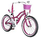 BIKESTAR Vélo enfant pour garcons et filles de 6 ans  Bicyclette enfant 20 pouces cruiser avec freins  Lilas