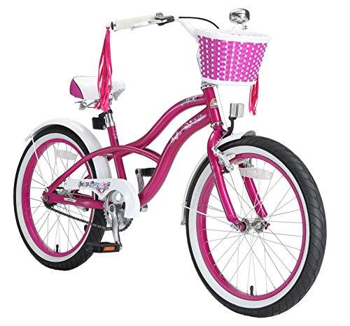 BIKESTAR Premium Sicherheits Kinderfahrrad 20 Zoll für Mädchen ab 6 - 7 Jahre ★ 20er Kinderrad Cruiser ★ Fahrrad für Kinder - 20 Zoll Kinder Fahrrad Ständer
